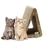 ZENEZ Cat Scratching Posts, 3-Sided Vertical Cat Scratcher Scratching Board Triangle Angles Cardboard