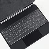 Justec Ultra Thin TPU Keyboard Protective Skin Cover for New Apple iPad Pro 12.9-Inch with Magic...