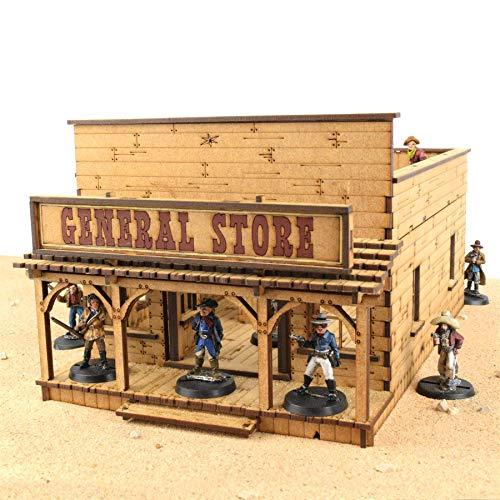 War World Gaming Wild West Laden / Geschäft - Bis Zu 35mm Scale Wargame Tabletop Spiele MDF Gelände Geländebau Geländestück Exodus Wildwest Modell Diorama Wargaming Terrain