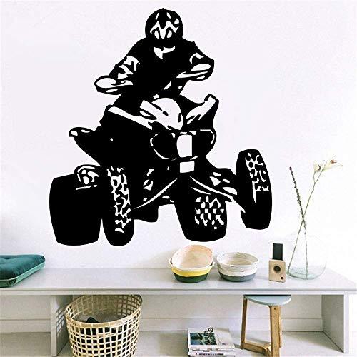 Vinyl Wandtattoo Schlafzimmer Quad Bikes Autos Sport Meisterschaft Mann Wandbild Für Wohnzimmer Wohnkultur Tapeten 56 * 89 Cm