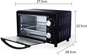 Breakfast Machine Retro 800-Watt Countertop Microwave Oven Pre Programmed Cooking Settings Easy Clean Interior, Black (Color : Black, Size : 37.5x23.5x28.5CM)