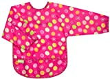 Kushies impermeable babero con mangas, Círculo Rosa, Infant Color: Rosa...