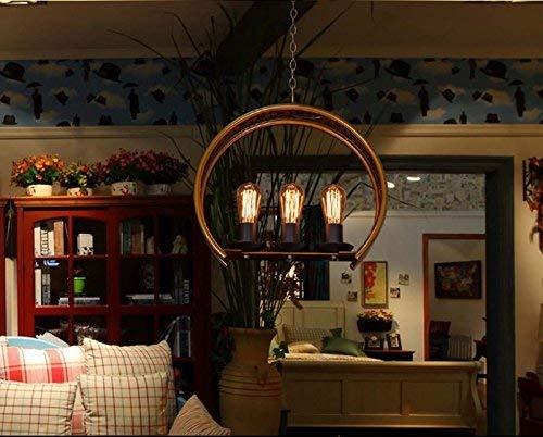 SOSO Eisen Retro Kronleuchter Ark Lounge Hängen Licht Dekorative Lampe Restaurant Bar Café Balkon Lampen und Laternen Persönlichkeit Haus Dekoration,45 * 45 cm