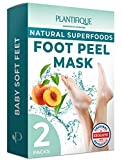 Best Foot Peels - DERMATOLOGICALLY CERTIFIED EXFOLIATING Foot Peel Mask for Ba Review