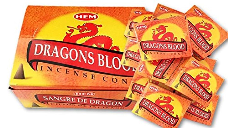 宙返り回る褒賞HEM(ヘム)お香コーン ドラゴンズブラッド  1ケース(10粒入り1箱×12箱)