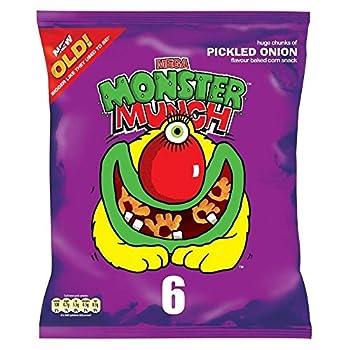 Walkers Mega Monster Munch - Pickled Onion  6x25g