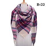 Bufanda de invierno de moda para mujer Bufandas de triángulo de punto a cuadros Cachemira Pashmina Señora Manta cálida Chales Abrigos Bufandas de cuello