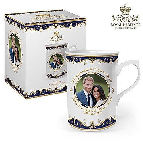Royal Heritage Tasse zum Gedenken an die Hochzeit von Prinz Harry und Meghan, feines Porzellan, Mehrfarbig, 10,5x 7,5x 10cm
