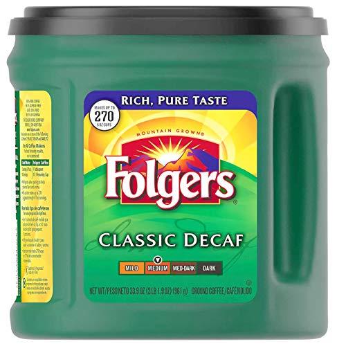 Folgers Coffee Coffee, Decaffeinated, Ground, 33.9 oz...