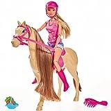 Steffi Love Pferd mit Reiterin Fütterfunktion Bewegliches Pferd Spielzeugpuppe 29 cm Modepuppe...