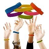 24 Colorful Motivational Rubber Bracelets