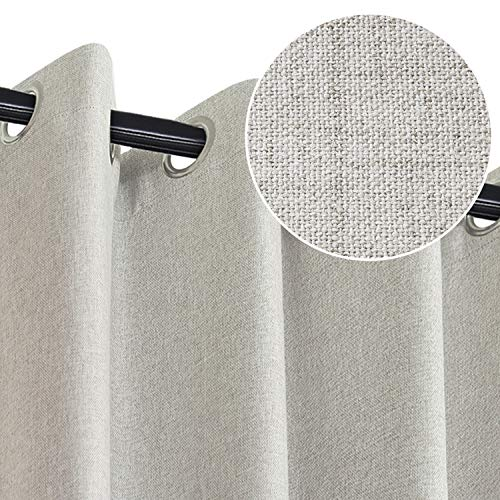 Rose Home Fashion 100% Blackout Curtain Set with Eyelet, 2 Panels Thermal...