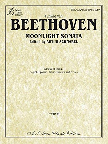 Moonlight Sonata (Sonata No. 14 in C-Sharp Minor, Op. 27, No. 2): Early Advanced Piano Solo (Belwin Classic Library)
