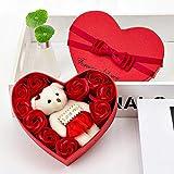 LoveLeiter Rosenbox Seifenblume Baderosen Seife Rose Blume DIY Handgemachte Seife Rose Blume...