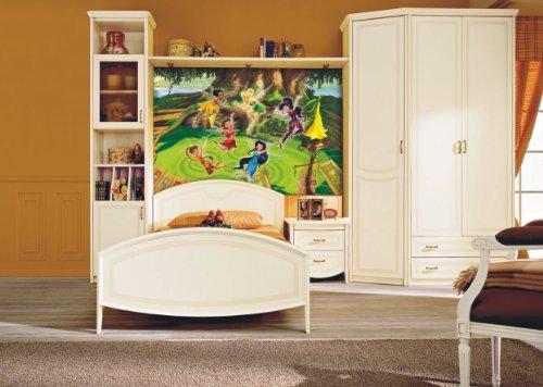 AG Design FTDm 0283 Disney Fairies Feen, Papier Fototapete Kinderzimmer- 160x115 cm - 1 Teil, Papier, multicolor, 0,1 x 160 x 115 cm