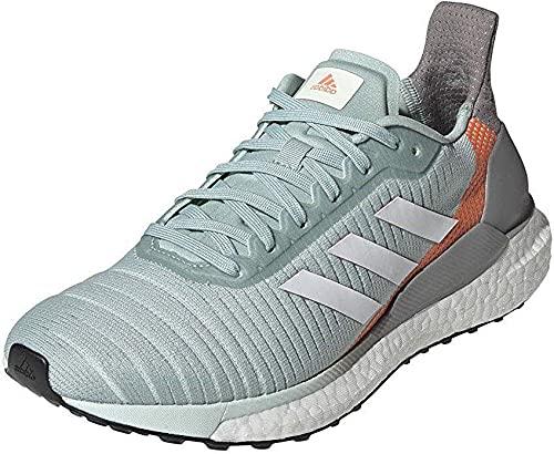 Adidas Solar Glide 19 W, Zapatillas Running Mujer, Rosa (Green Tint/FTWR White/Signal Coral), 37 1/3 EU