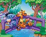 CHUTD 1000 piece wooden jigsaw puzzles forMotion logic and sensory coordination Winnie the Pooh move A for kids age12 and up toys gift for