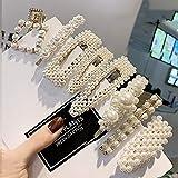 Prendedores para el cabello con perlas, 8 pcs. Perlas artificiales para el cabello. Perlas decorativas para el cabello. Accesorios para el cabello hechos a mano para niñas y mujeres,StyleSet3