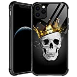 iPhone 11 Pro Max Case,Golden Crown Skull iPhone 11 Pro Max Cases for Men Boys,Shockproof Anti-Scratch Soft TPU Pattern Design Case for Apple iPhone 11 Pro Max Golden Crown Skull
