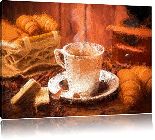 frisch aufgebrühter Kaffee Format: 120x80 auf Leinwand, XXL riesige Bilder fertig gerahmt mit Keilrahmen, Kunstdruck auf Wandbild mit Rahmen, günstiger als Gemälde oder Ölbild, kein Poster oder Plakat