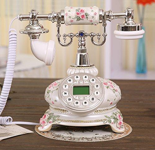 Shopping-De style européen antique résine Retro Fashion Creative Téléphone Blanc