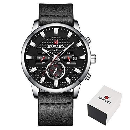 JCCOZ-URG Tapa de la Manera Hombres del Reloj de Lujo de la Marca a Prueba de Agua los Hombres del cronógrafo de los Relojes del Cuarzo del Deporte Reloj de Pulsera URG