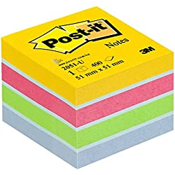 4,2 mm x 10 m Correttore a nastro 51x51 mm confezione da 10 400 Fogli /& Basics Post-it Notes Minicubo