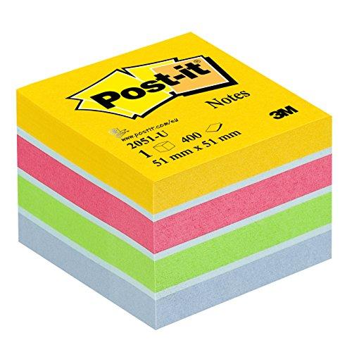 Post-it Notes Mini Cubo, 51 x 51 mm, 400 Fogli, Multicolore (Ultra)