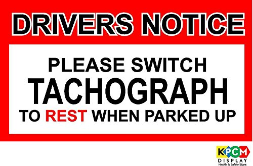 80x45mm DRIVERS NOTICE STICKER TACHO OP REST COACH PSV HGV BUS