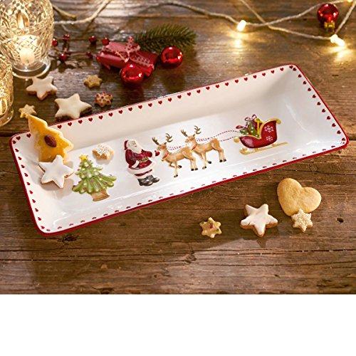 Weihnachtsgeschirr - Kuchenplatte Traditional Christmas - ca. 40 x 16 cm