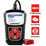 KONNWEI KW310 OBD2 Scanner Full OBDII Functions 10 Modes Car Engine Diagnostic Scanner Tool for All 1996 and Newer Cars (Black)