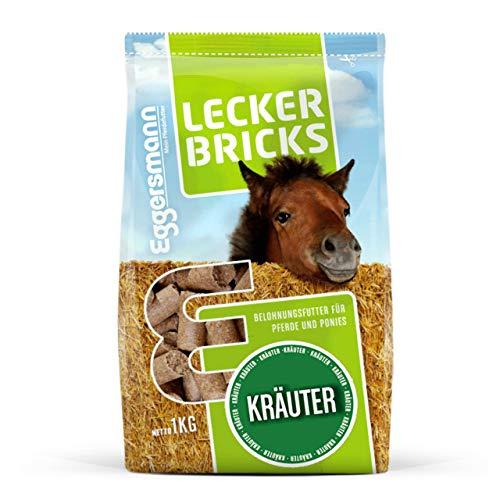 Eggersmann Lecker Bricks Kräuter – Pferdeleckerlis Kräuter – Leckerlies für Pferde und Ponies – 1 kg Beutel