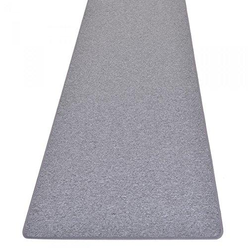 havatex Schlingen Teppich Läufer Torronto - Prüfsiegel: Blauer Engel | schadstoffgeprüft und pflegeleicht | robust strapazierfähig | Flur Diele Eingang Schlafzimmer, Farbe:Grau, Größe:80 x 200 cm