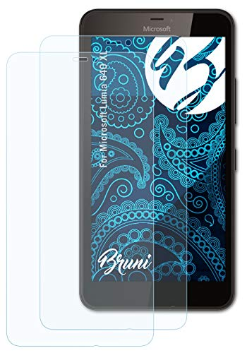 Bruni Schutzfolie kompatibel mit Microsoft Lumia 640 XL Folie, glasklare Bildschirmschutzfolie (2X)