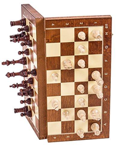 Square - Schach Schachspiel - MAGNETISCHE Staunton Nr 4 - Schachfiguren & Schachbrett aus Holz