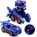 ACCLD Dinosaur Transformers Car es un Auto de Dinosaurio autotransformable con Luces y Sonidos...