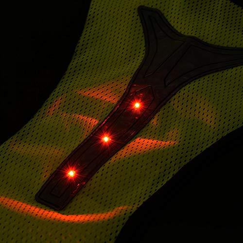 minifinker Chaleco para Correr Chaleco de Seguridad Transpirable para Corredor Nocturno