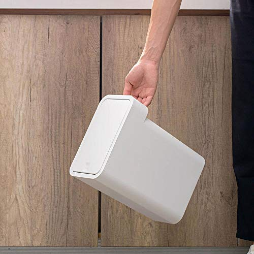 JGB-SNHSX Grote Narrow Vuilnisbak indrukken Type prullenbak Plastic Vuilnisbak Wastebasket Keuken Badkamer Vuilnisbak Can Storage Box (Color : White)