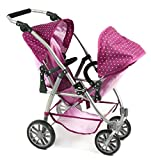 Bayer Chic 2000 689 29 Zwillings-Puppenwagen, lila, rosa