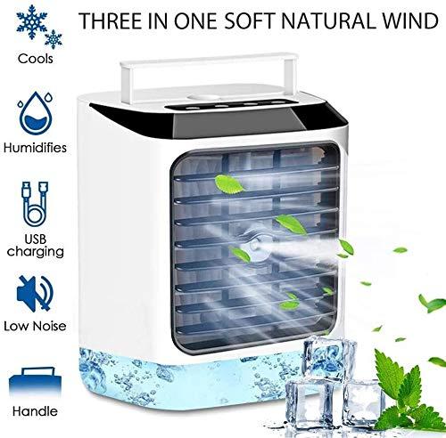 LG Snow Mini Acondicionador De Aire Portátil, Velocidad del Viento Frío Portátil USB 3 De Aire Frío En Circulación, Los Ventiladores del Evaporador Humidificador Silencioso Ventilador