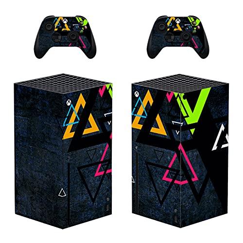 LUONE pour la série Xbox Série X Couvercle de décalcomanie Body Corps Vinyle Stickers pour la série Microsoft Xbox Série X Console et contrôleurs,0422