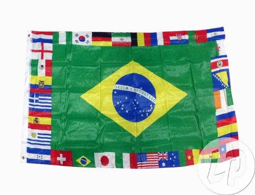 AZ FLAG Bandera de la Copa del Mundo DE Futbol 2014 32 Paises 150x90cm - Bandera...