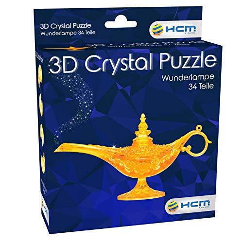 HCM Kinzel-3D Wunderlampe Crystal Puzzle 3D – Lampada miracolosa, Multicolore, 59186