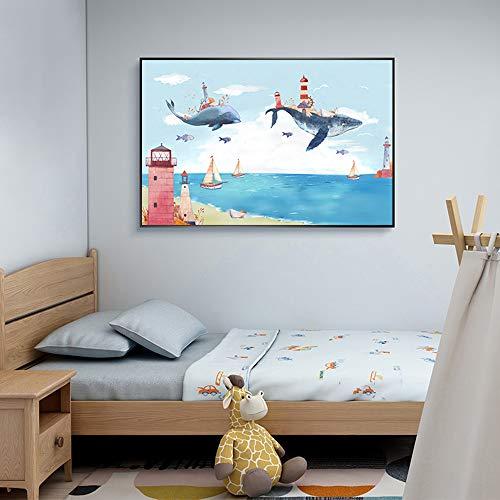 China Dream Paradise inkt art poster canvas afdrukken fotolijst poster print woonkamer poster decoratie frameloze schilderij 50x80cm