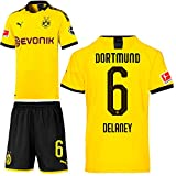 PUMA Borussia Dortmund BVB Heimset 2019 2020 Home Kit Trikot Shorts Kinder Thomas Delaney 6 Gr 164