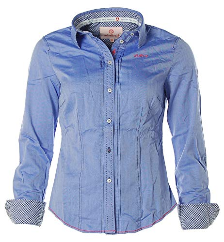 St. Moritz Damen Langarm Bluse Shirt Freizeitbluse Biesenbluse Skyway 36