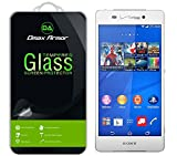 Dmax Armor for Sony Xperia Z3v Screen Protector, [Tempered Glass] 0.3mm 9H...