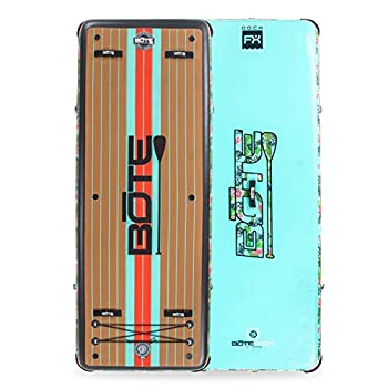 BOTE Dock FX Inflatable Floating Exercise Mat and Swim Platform  Native Pineapskull
