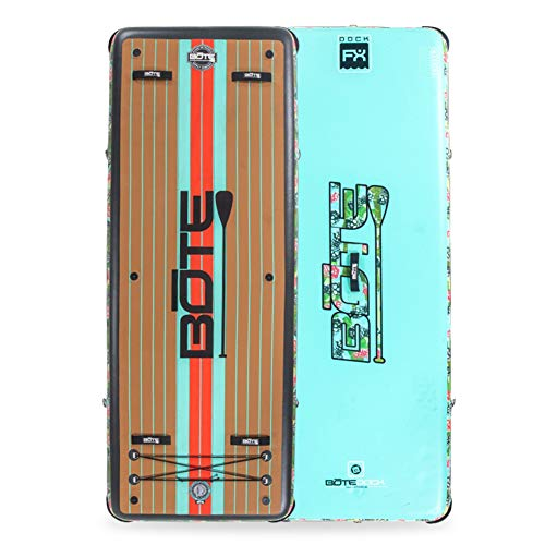 BOTE Dock FX Inflatable Floating Exercise Mat and Swim Platform (Native Pineapskull)