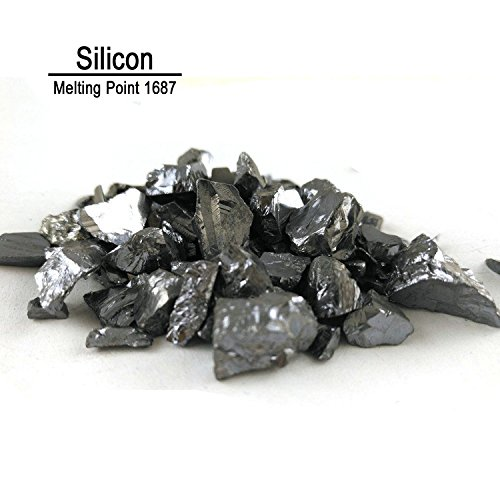 50g 99.99% Pure Silicon Metal Si Metalloid Element 14--In Glass Bottles With Label